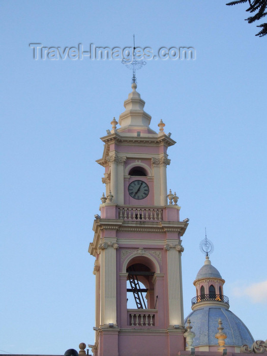 argentina276: Argentina - Salta - The Cathedral - bell tower - images of South America by M.Bergsma - (c) Travel-Images.com - Stock Photography agency - Image Bank