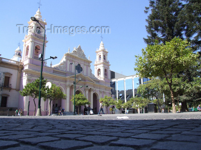 argentina277: Argentina - Salta - The Cathedral at Plaza 9 de Julio - images of South America by M.Bergsma - (c) Travel-Images.com - Stock Photography agency - Image Bank