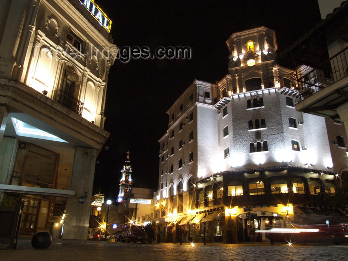 argentina281: Argentina - Salta - View from Plaza 9 de Julio towards San Francisco church - nocturnal - images of South America by M.Bergsma - (c) Travel-Images.com - Stock Photography agency - Image Bank