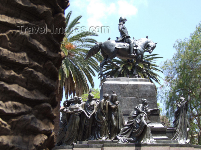 argentina283: Argentina - Salta -equestrian  Statue of José de San Martín - Plaza 9 de Julio - images of South America by M.Bergsma - (c) Travel-Images.com - Stock Photography agency - Image Bank