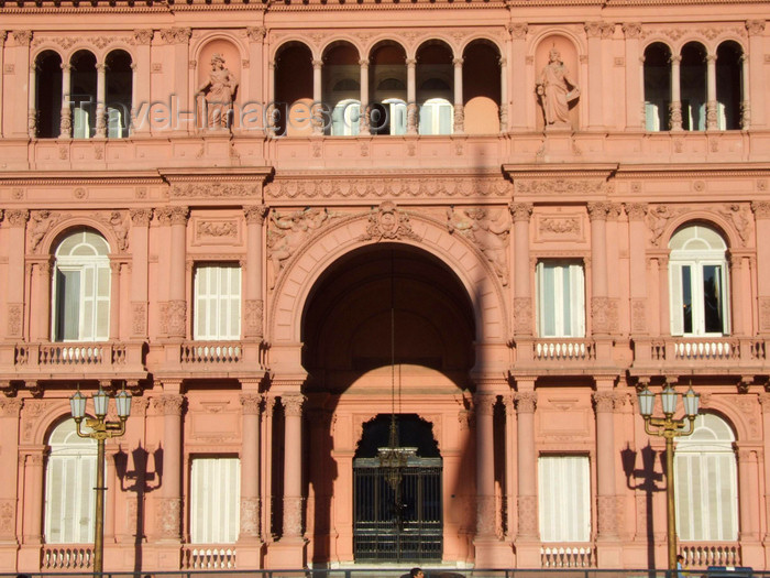 argentina313: Argentina - Buenos Aires - Casa Rosada - façade - images of South America by M.Bergsma - (c) Travel-Images.com - Stock Photography agency - Image Bank