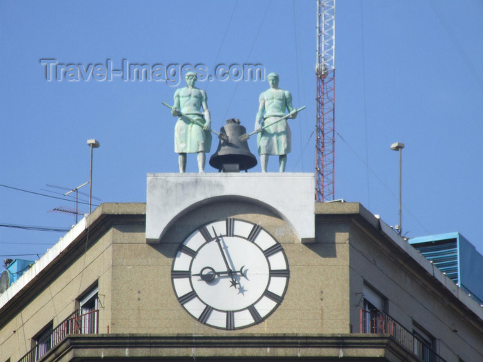 argentina314: Argentina - Buenos Aires - Clock on top of a building - images of South America by M.Bergsma - (c) Travel-Images.com - Stock Photography agency - Image Bank