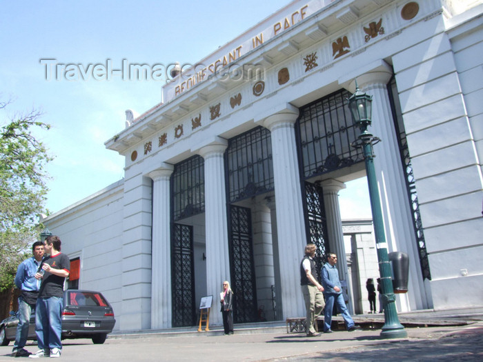 argentina319: Argentina - Buenos Aires - Entrance to the Recolecta cemetery or Cementerio - images of South America by M.Bergsma - (c) Travel-Images.com - Stock Photography agency - Image Bank