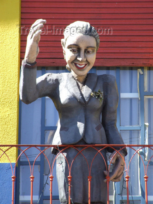 argentina320: Argentina - Buenos Aires - Evita in La Boca - images of South America by M.Bergsma - (c) Travel-Images.com - Stock Photography agency - Image Bank