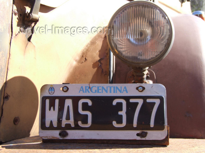 argentina328: Argentina - Buenos Aires - License plate - images of South America by M.Bergsma - (c) Travel-Images.com - Stock Photography agency - Image Bank