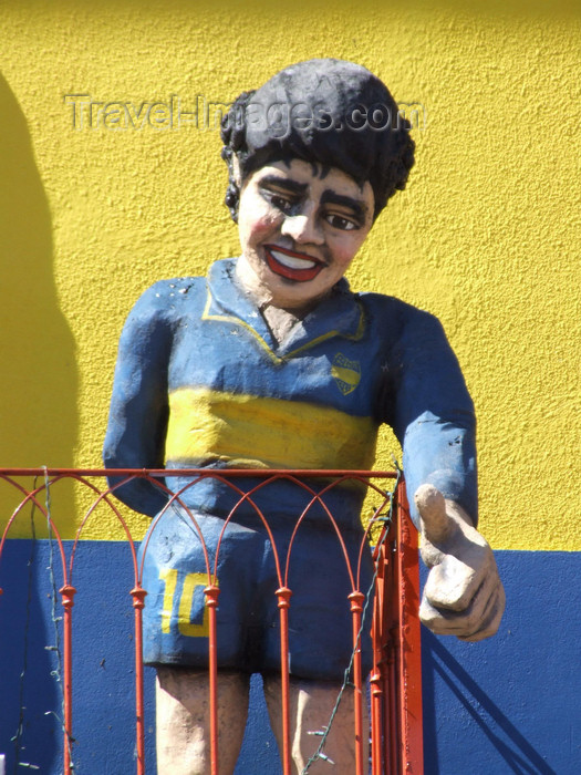 argentina330: Argentina - Buenos Aires - Maradona in La Boca - images of South America by M.Bergsma - (c) Travel-Images.com - Stock Photography agency - Image Bank