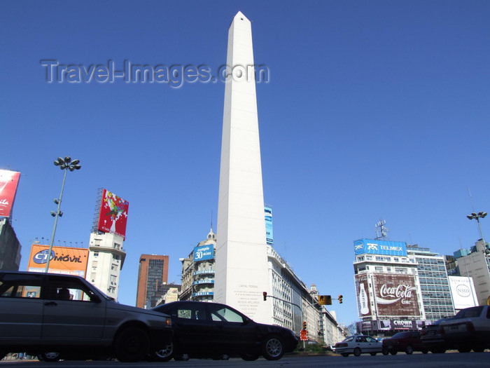 argentina332: Argentina - Buenos Aires - Obelisco at the Avenida 9 de Julio - images of South America by M.Bergsma - (c) Travel-Images.com - Stock Photography agency - Image Bank