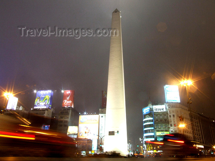 argentina333: Argentina - Buenos Aires - Obelisk at the Avenida 9 de Julio - images of South America by M.Bergsma - (c) Travel-Images.com - Stock Photography agency - Image Bank