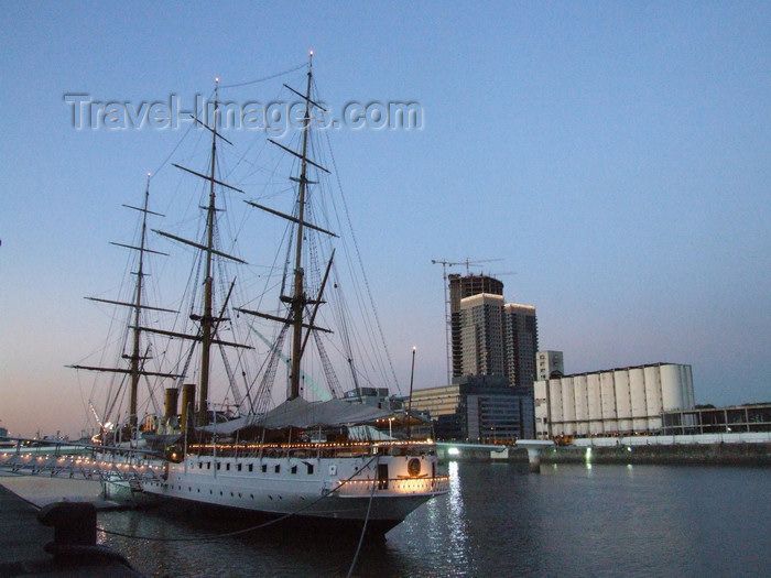argentina347: Argentina - Buenos Aires - Puerto Madero - tall ship - images of South America by M.Bergsma - (c) Travel-Images.com - Stock Photography agency - Image Bank