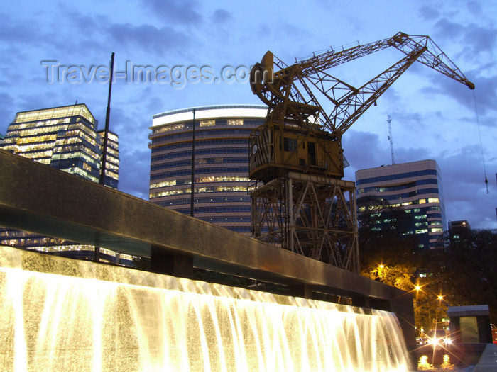 argentina349: Argentina - Buenos Aires - Puerto Madero crane and cascade of light - images of South America by M.Bergsma - (c) Travel-Images.com - Stock Photography agency - Image Bank