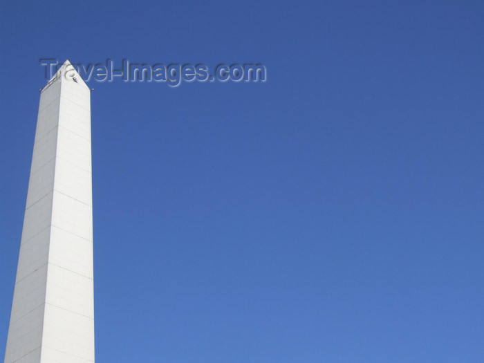 argentina358: Argentina - Buenos Aires - sky and Obelisco at the Avenida 9 de Julio - images of South America by M.Bergsma - (c) Travel-Images.com - Stock Photography agency - Image Bank