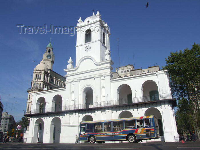 argentina368: Argentina - Buenos Aires - The Cabildo - images of South America by M.Bergsma - (c) Travel-Images.com - Stock Photography agency - Image Bank