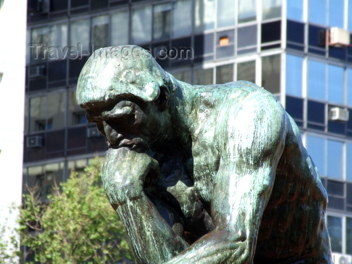 argentina370: Argentina - Buenos Aires - The Congress and Rodin's Thinker - images of South America by M.Bergsma - (c) Travel-Images.com - Stock Photography agency - Image Bank