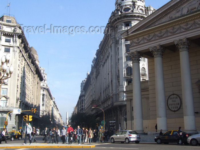argentina374: Argentina - Buenos Aires - View from the Plaza de Mayo - images of South America by M.Bergsma - (c) Travel-Images.com - Stock Photography agency - Image Bank