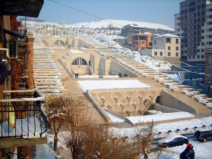 armenia109: Armenia - Yerevan: cascade with snow - photo by S.Hovakimyan - (c) Travel-Images.com - Stock Photography agency - Image Bank