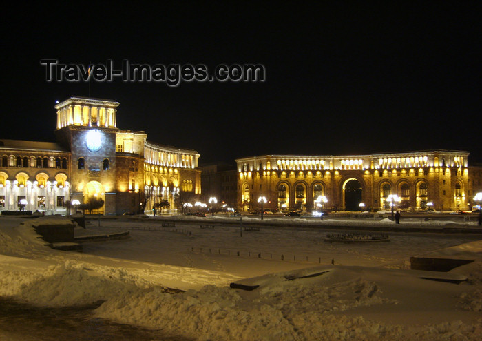 armenia110: Armenia - Yerevan: Republic Square at night - designed by Armenian architect Alexander Tamanian - photo by S.Hovakimyan - (c) Travel-Images.com - Stock Photography agency - Image Bank