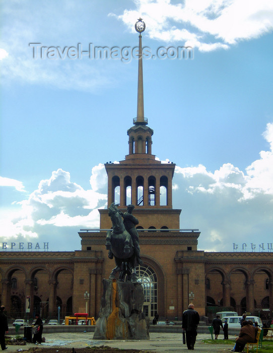 armenia120: Armenia - Yerevan: central train station and Sasuntsi Davit monument - photo by S.Hovakimyan - (c) Travel-Images.com - Stock Photography agency - Image Bank