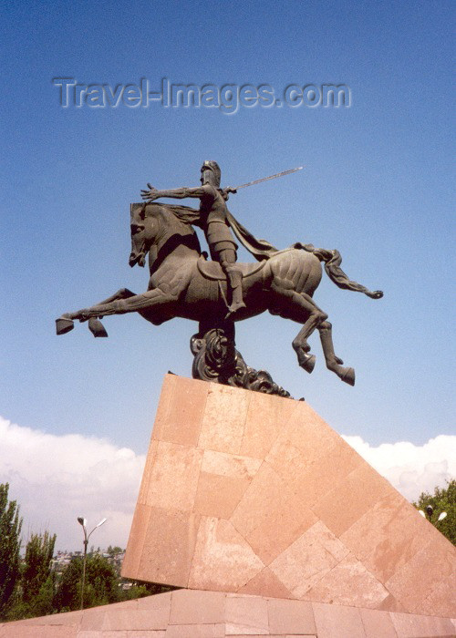 armenia14: Armenia -  Yerevan: statue of Vartan Mamikonian - sculptor E. Kochar - photo by M.Torres - (c) Travel-Images.com - Stock Photography agency - Image Bank