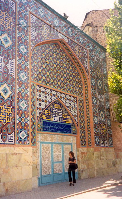 armenia18: Armenia -  Yerevan: tiled façade of the Gei Mosque - Persian Mosque - Mashtots avenue (photo by M.Torres) - (c) Travel-Images.com - Stock Photography agency - Image Bank