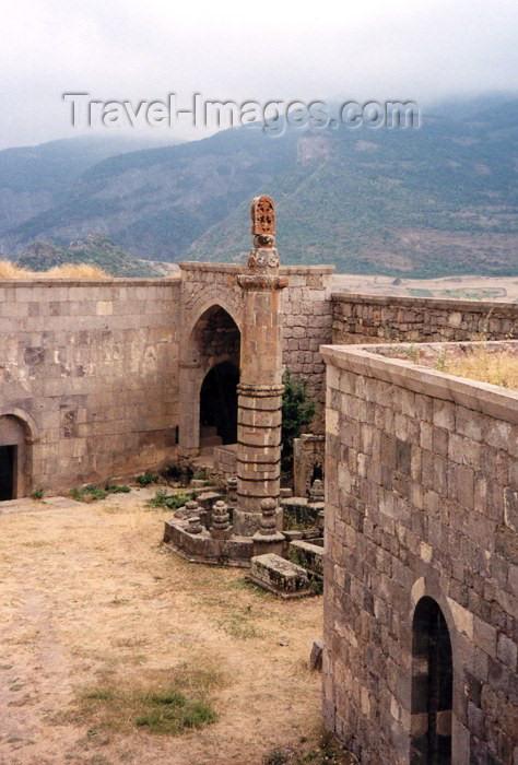 armenia37: Armenia - Tatev, Syunik province: 6 m high octagonal  pillory - Tatev Monastery complex - photo by M.Torres - (c) Travel-Images.com - Stock Photography agency - Image Bank