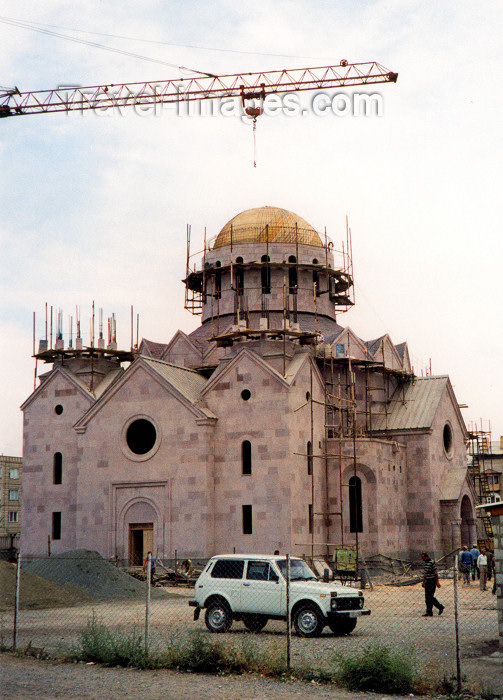 armenia49: Armenia - Giumri: re-building the city - new church - photo by M.Torres - (c) Travel-Images.com - Stock Photography agency - Image Bank