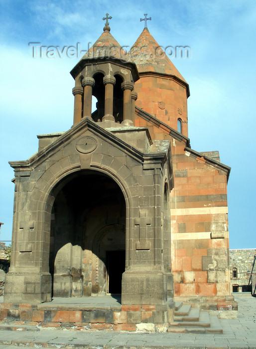 armenia88: Armenia - Khor Virap, Ararat province: the monastery - porch of Astvatsatsin Church - photo by A.Ishkhanyan - (c) Travel-Images.com - Stock Photography agency - Image Bank
