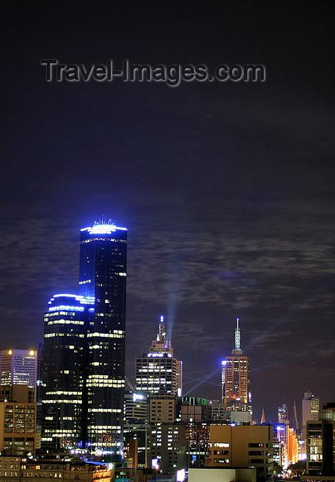 australia146: Australia - Melbourne: CBD at night - skyline - Rialto Towers - photo by Luca Dal Bo - (c) Travel-Images.com - Stock Photography agency - Image Bank