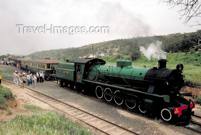 australia389: Australia - Quorn (SA): Pichi Richi Railway - steam train - attractions - photo by Rod Eime - (c) Travel-Images.com - Stock Photography agency - Image Bank