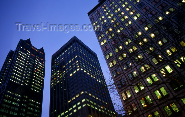australia634: Australia - Melbourne: city lights - office buildings - Victoria - photo by S.Lovegrove - (c) Travel-Images.com - Stock Photography agency - Image Bank