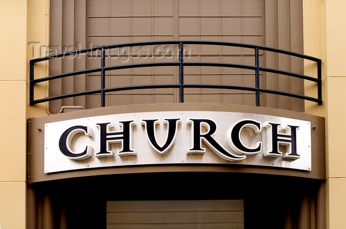 australia637: Australia - Adelaide (SA): church sign - photo by S.Lovegrove - (c) Travel-Images.com - Stock Photography agency - Image Bank