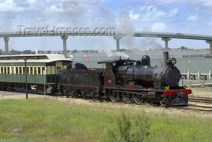 australia657: Australia - Goolwa, South Australia: Dean Harvey Steam Train - photo by G.Scheer - (c) Travel-Images.com - Stock Photography agency - Image Bank