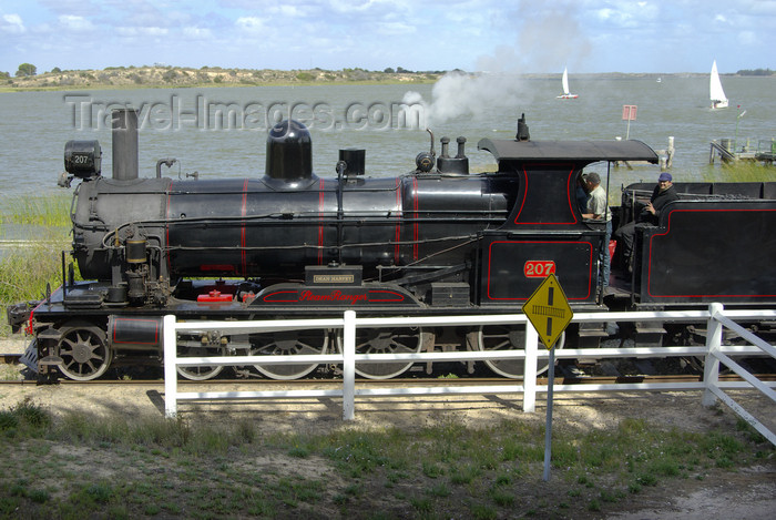 australia712: Australia - Goolwa, South Australia: Steam Train & Yacht  Race - photo by G.Scheer - (c) Travel-Images.com - Stock Photography agency - Image Bank