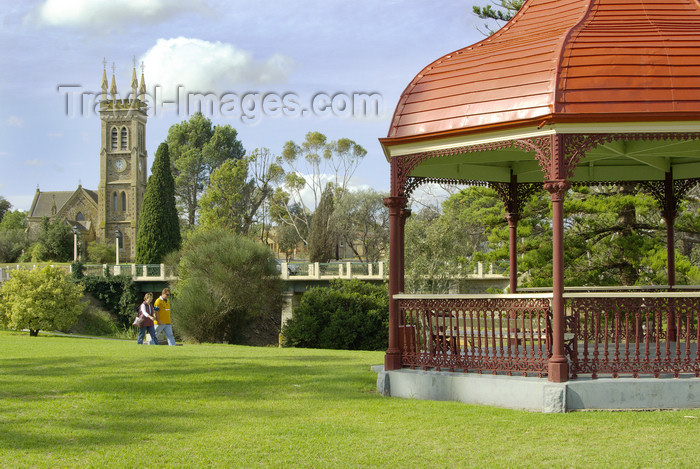 australia713: Australia - Strathalbyn, South Australia: park, bandstand and church - photo by G.Scheer - (c) Travel-Images.com - Stock Photography agency - Image Bank