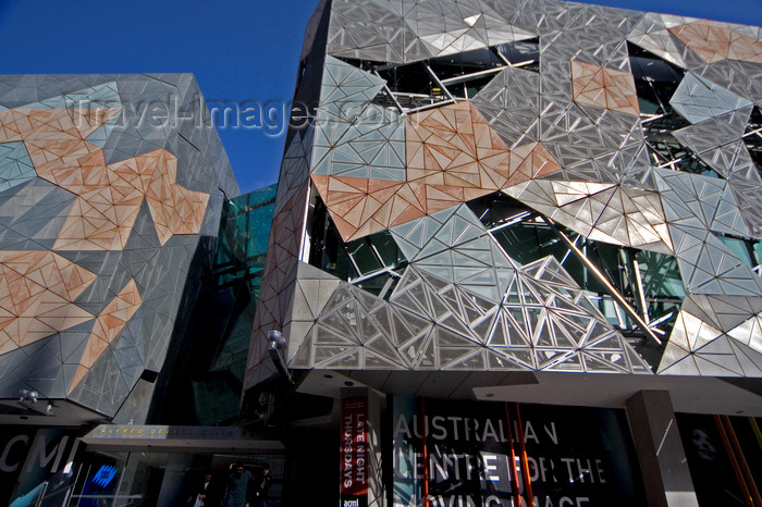 australia716: Melbourne, Victoria, Australia: Australian Centre for the Moving Image - ACMI - entrance - Federation Square - photo by Y.Xu - (c) Travel-Images.com - Stock Photography agency - Image Bank