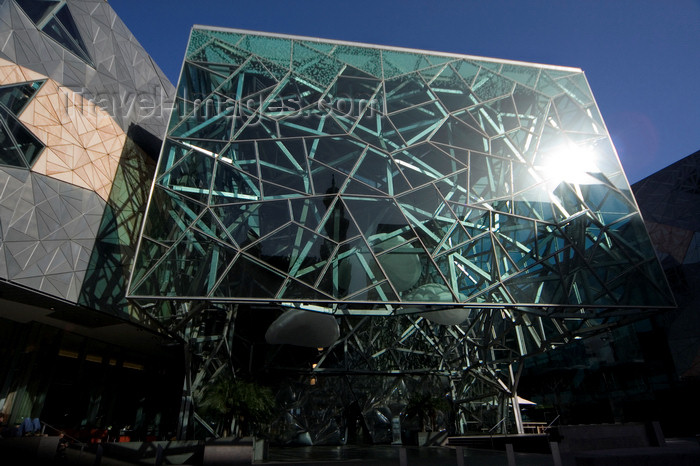 australia717: Melbourne, Victoria, Australia: Australian Centre for the Moving Image - ACMI - Alfred Deakin Building, designed by Federation Square architects Lab + Bates Smart - photo by Y.Xu - (c) Travel-Images.com - Stock Photography agency - Image Bank