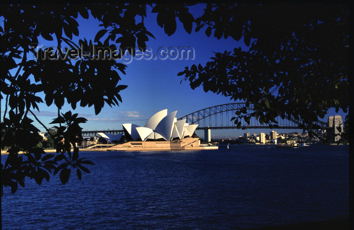 australia724: Australia - Sydney (NSW): the Opera House and Harbour Bridge - photo by Y.Xu - (c) Travel-Images.com - Stock Photography agency - Image Bank
