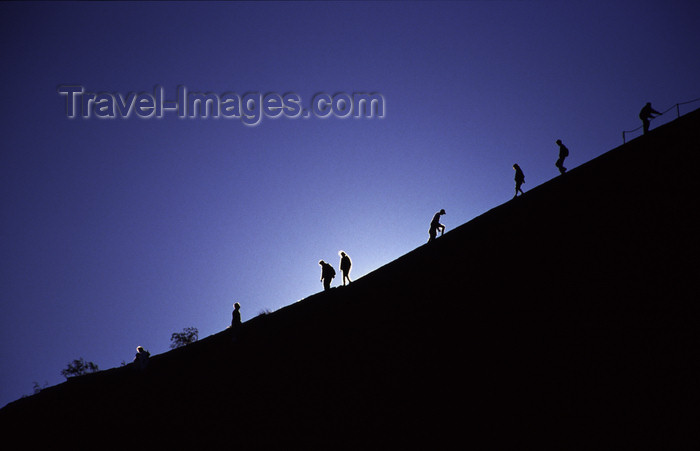 australia725: Ayers Rock / Uluru - Northern Territory, Australia: climbers - photo by Y.Xu - (c) Travel-Images.com - Stock Photography agency - Image Bank