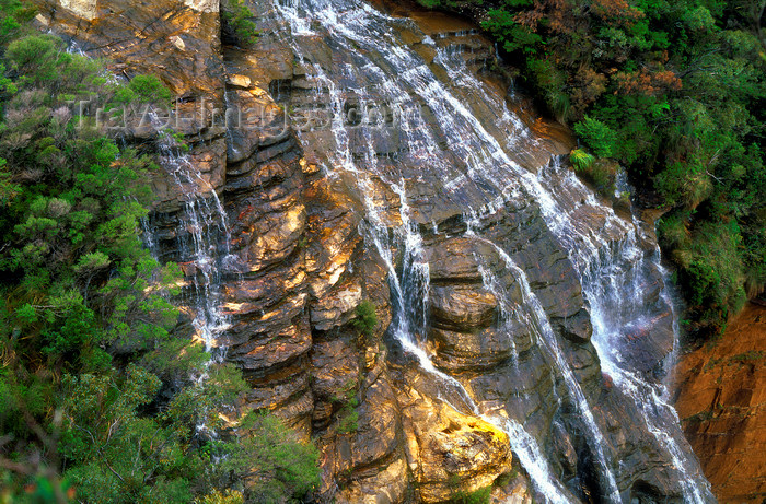 australia753: Blue Mountains, New South Wales, Australia: Wentworth Falls - upper cascades - photo by G.Scheer - (c) Travel-Images.com - Stock Photography agency - Image Bank