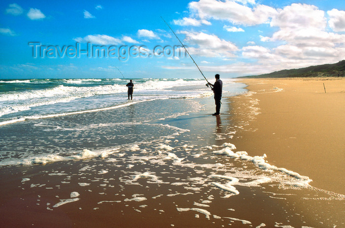 australia765: GippsIand Lakes Coastal Park, Victoria, Australia: Golden Beach - anglers - photo by G.Scheer - (c) Travel-Images.com - Stock Photography agency - Image Bank