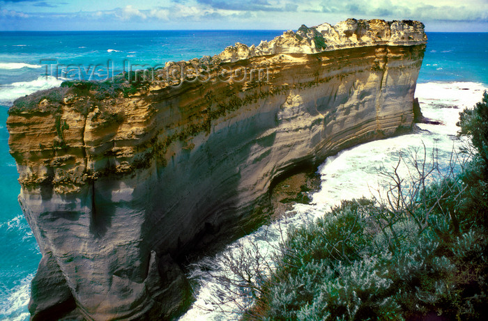 australia815: Great Ocean Road, Victoria, Australia: cliffs - limestone wall - photo by G.Scheer - (c) Travel-Images.com - Stock Photography agency - Image Bank