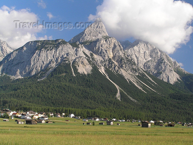 austria106: Austria - Ehrwald, Tirol: view of the Austrian side of the Zugspitze, the highest mountain in Germany - German-Austrian border - Bavarian Alps - Wetterstein range in the northern Kalkalpen - photo by J.Kaman - (c) Travel-Images.com - Stock Photography agency - Image Bank