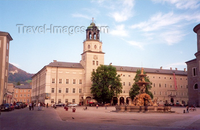 austria16: Austria - Salzburg: Town Hall and St Florian's Fountain - Domplatz - photo by M.Torres - (c) Travel-Images.com - Stock Photography agency - Image Bank
