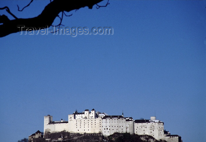 austria41: Austria - Salzburg: Hohensalzburg fortress and the Austrian sky - built by Archbishop Gebhard - photo by F.Rigaud - (c) Travel-Images.com - Stock Photography agency - Image Bank