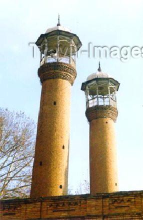 az-ganca14: Ganca: Minarets at the Abbas Mosque / Gence Shah Abbas mescidinin Minareleri - photo by Elnur Hasan - (c) Travel-Images.com - Stock Photography agency - Image Bank