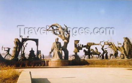 az-ganca16: Ganca / Ganja, Azerbaijan: art behind Nizami´s mausoleum - photo by Elnur Hasan - (c) Travel-Images.com - Stock Photography agency - Image Bank