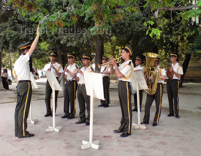 azer109: Azerbaijan - Baku: Military band playing al fresco - Republic day celebrations on Fountain square - May 28th - photo by N.Mahmudova - (c) Travel-Images.com - Stock Photography agency - Image Bank