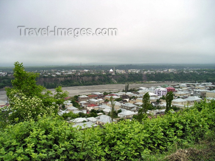 azer121: Azerbaijan - Krasnaya Sloboda: tin roofs and the Kudyal river - Quba in the background (photo by F.MacLachlan) - (c) Travel-Images.com - Stock Photography agency - Image Bank