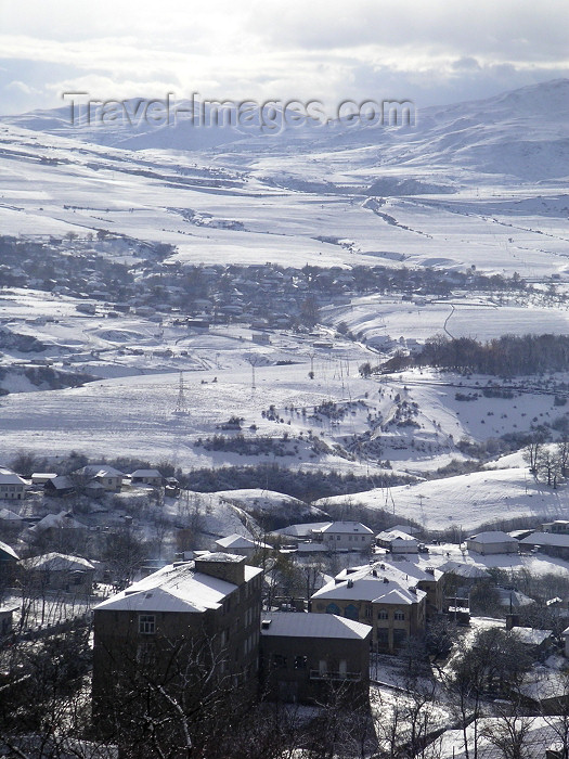 azer143: Azerbaijan - Lerik: view across the Talysh mountains - winter scene - snow covered landscape - photo by A.Kilroy - (c) Travel-Images.com - Stock Photography agency - Image Bank