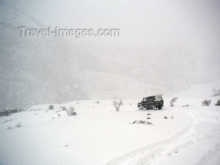 azer159: Azerbaijan - outside Quba: UAZ jeep loses its way in a high pass between Quba and Khynalygh / Xiniliq (photo by Austin Kilroy) - (c) Travel-Images.com - Stock Photography agency - Image Bank