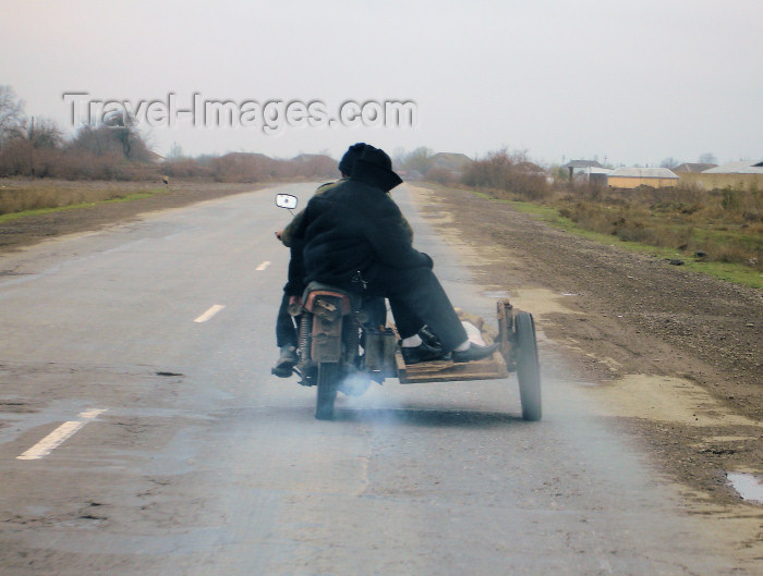 azer173: Salyan road, Azerbaijan: odd side-car - photo by F.MacLachlan - (c) Travel-Images.com - Stock Photography agency - Image Bank